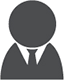 Icon of person with tie